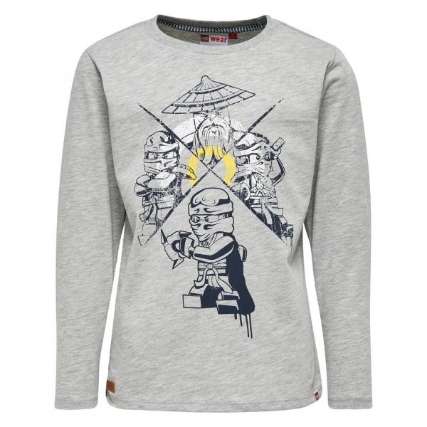 LEGO Langarm Shirt Ninjago TEO 310 grau