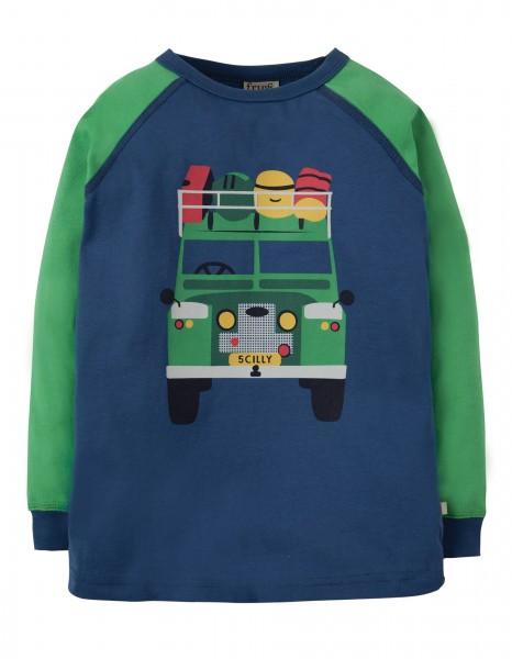 Frugi Harry Printed Langarm Shirt Truck