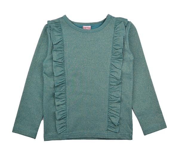 Baba Babywear Langarm Ruffle Shirt Blue Silver