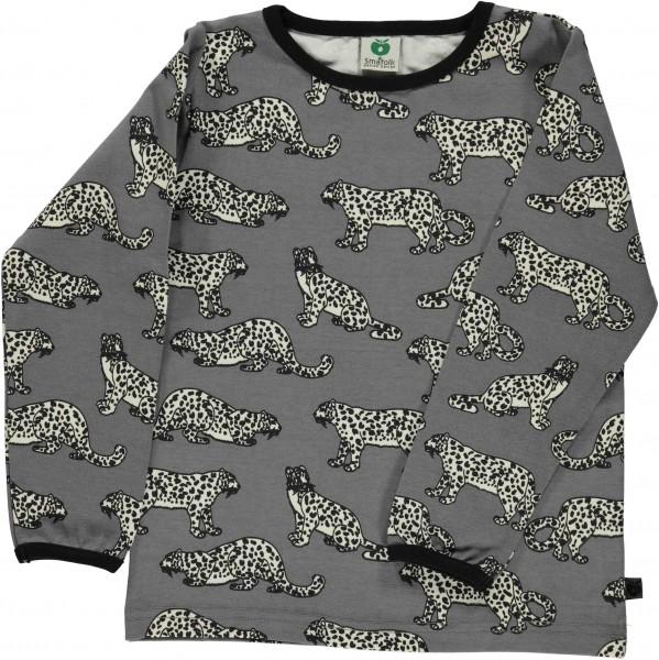 smafolk Langarm Shirt Leopard grau