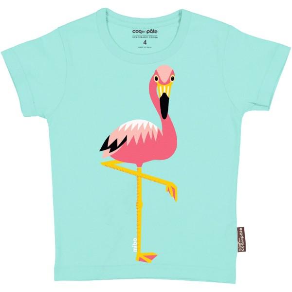Coq en Pate Kurzarm Shirt Flamingo
