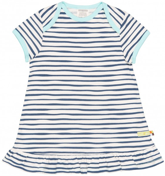 Loud+Proud Kurzarm Kleid weiß-blau gestreift | Kurzarm ...
