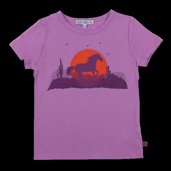 Enfant Terrible Kurzarm Shirt Pferdedruck lavendel