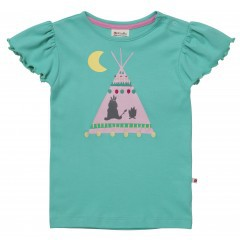 Piccalilly Kurzarm T-Shirt Tipi Tee Zelt