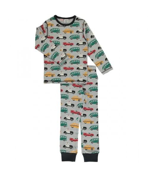maxomorra Schlafanzug Pyjama Set lang TRAFFIC