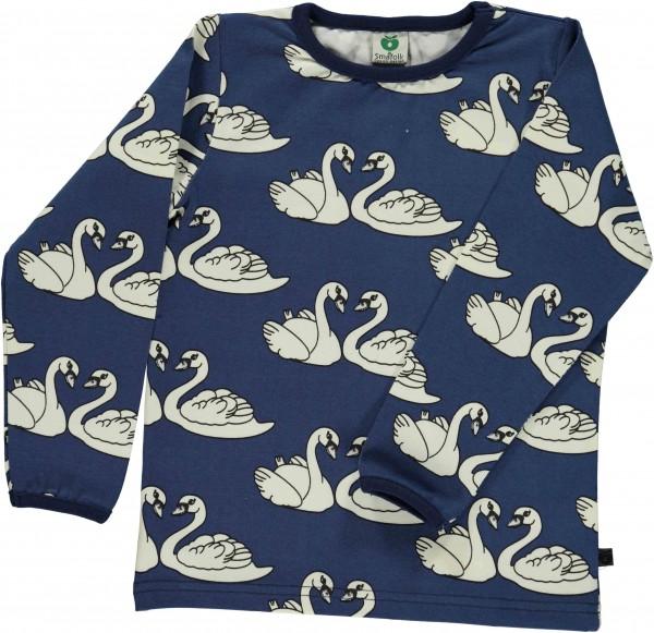 smafolk Langarm Shirt Swan Schwan blau