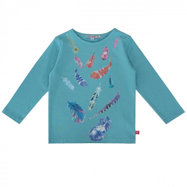 Enfant Terrible Langarm Shirt mit Federdruck cyan