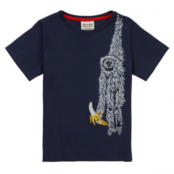 Piccalilly Kurzarm Shirt Sloth Faultier