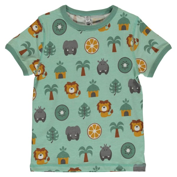 maxomorra Kurzarm Shirt JUNGLE