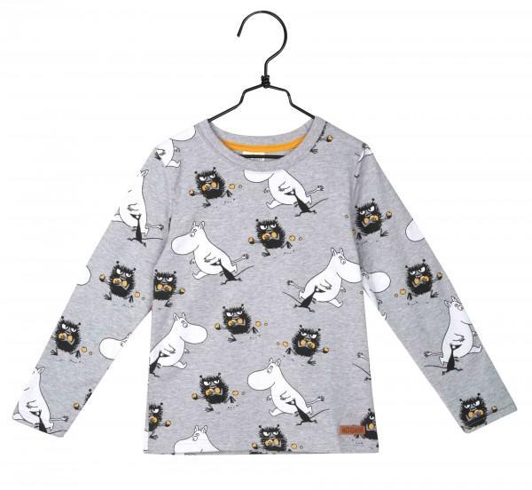 Martinex Mumin Moomin Stinky Langarm Shirt grau