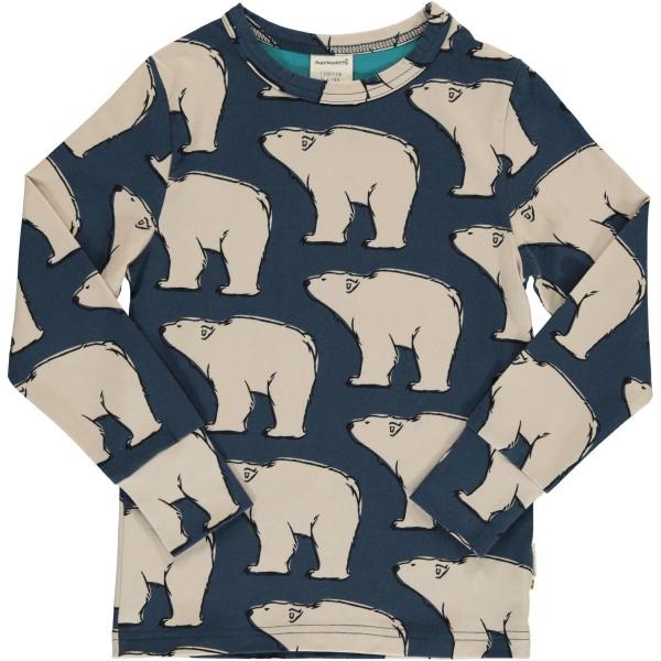 maxomorra Langarm Shirt POLAR BEAR