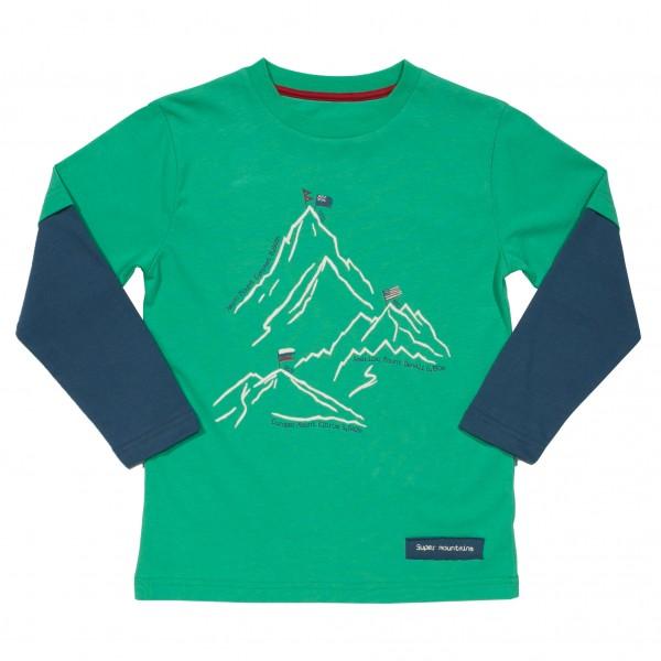 KITE Langarm Mountain Berge Shirt grün
